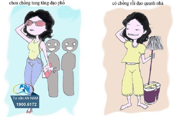 Phụ nữ thay đổi gì sau khi kết hôn